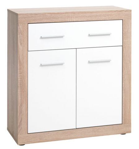 FAVRBO 1 drawer 2 door chest oak/white
