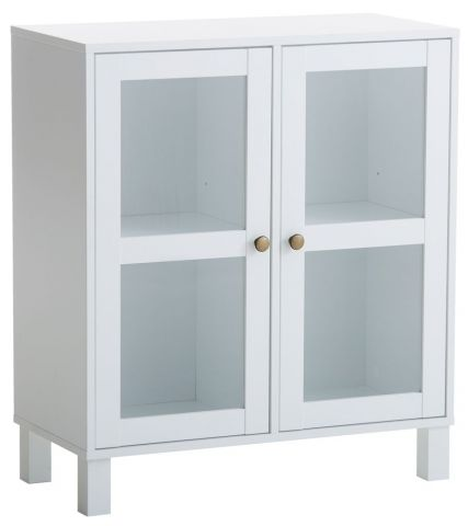 Display Cabinet SKALS glass doors white