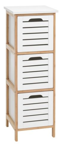 BROBY 3 drawer chest bamboo/white