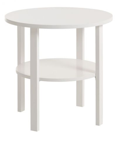 End table SKIBBY 50cm white