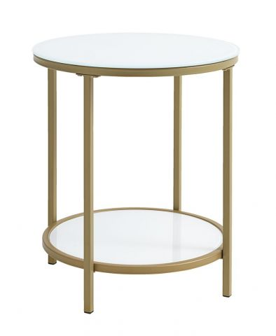 End table GADEVANG �45 white/gold
