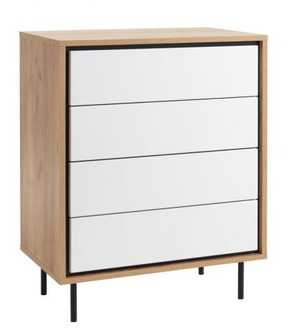 4 drawer chest HALBY s white/oak