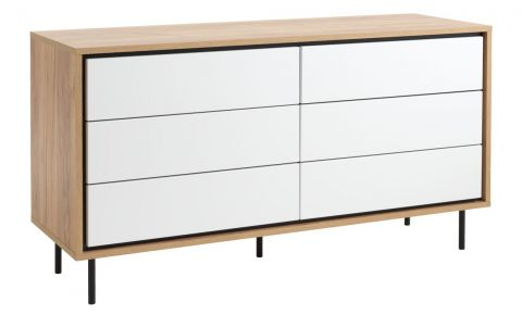 HALBY 3+3 drawer chest white/oak