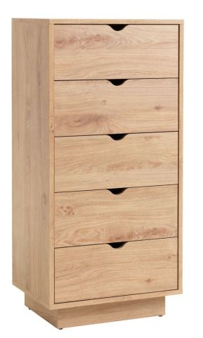 ..MAMMEN 5 drawer chest slim oak