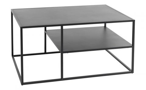 Coffee table VIRUM 60x90 w/shelf black