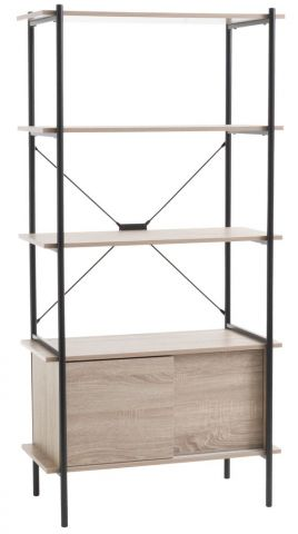Shelving unit VANDBORG 4 s/2 d oak/black