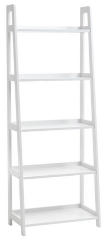 Bookcase HERNING 5 shelves white