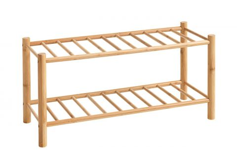 Shoe rack VANDSTED 2 shelves bamboo