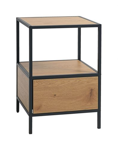 Bedside table TRAPPEDAL 1 draw oakblack