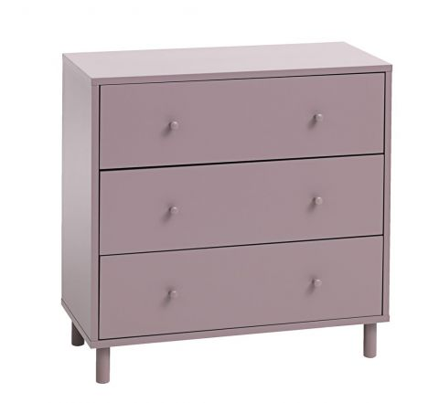 3 drawer chest TRYSIL dusty rose