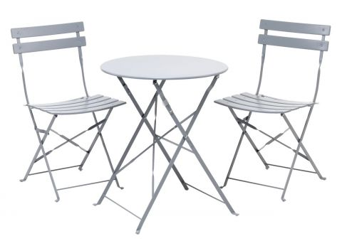 Bistro set HAFJELL D60 grey