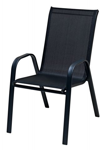 Stacking chair LEKNES black