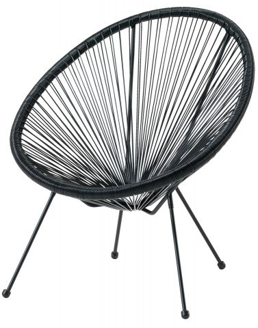 Lounge chair UBBERUP black