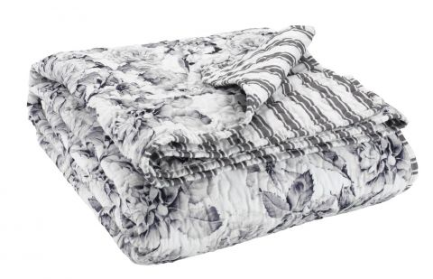 ..Quilted blanket SALVIA 140x200 grey