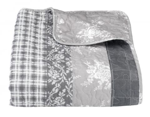 Bed throw KORNBLOMST 240x260 grey
