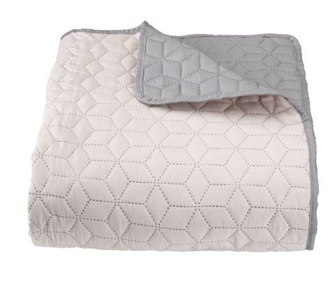 Bed throw ROSENTRE 220x240 grey/beige
