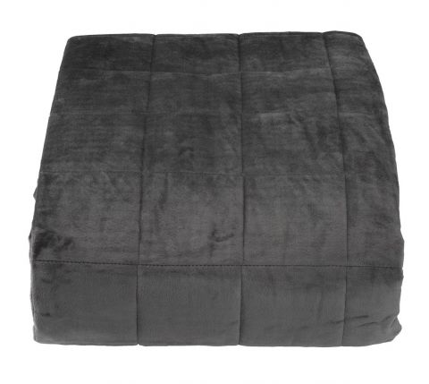 Bed throw BANKSIA 220x240 dark grey