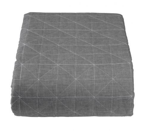 Bed throw HIRSHOLM 240x260 grey