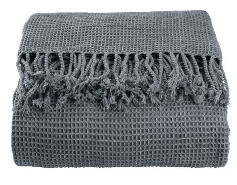 Bed throw SKOGBURKNE 220x240 dark grey