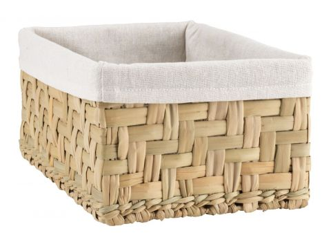 Basket EJNO W22xL31xH15cm w/white fabric