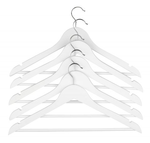 Hangers HELMUT wood white 5pcs/pk