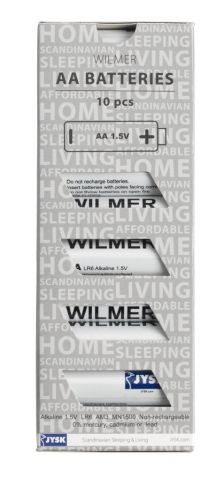 Batteries WILMER AA 10pcs/pk