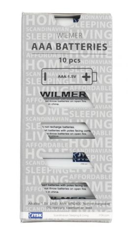 Batteries WILMER AAA 10pcs/pk