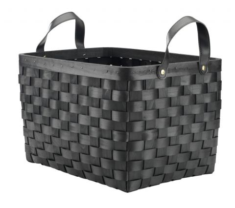 Basket LAUE W39xL30xH25cm black w/handle