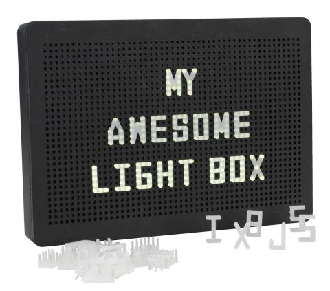 Light box OLSEN w/100 letters and LED's