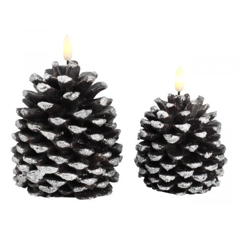 ..Candle LOFN H12/14cm w/LED 2pcs/pk