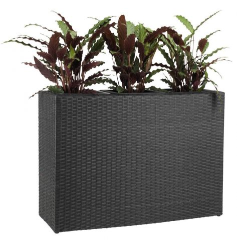 ..Flower box STOKKAND W30—L84—H60 black