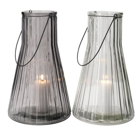 ..Lantern MYRRIKSE D:23xH38 glass ass.